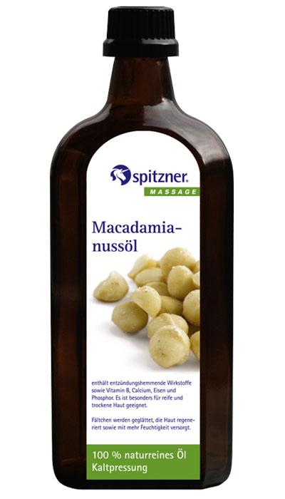 Spitzner Masážní olej panenský makadamový, 500 ml
