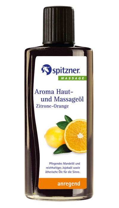 Masážní olej Wellness Citron - Pomeranč, 190 ml