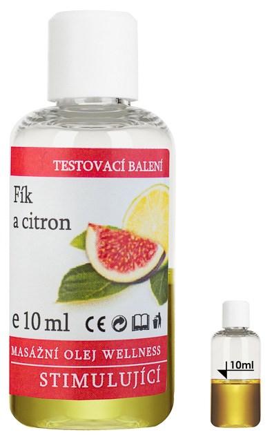 Masážní olej Wellness Fík - Citron, 10 ml - testovací balení