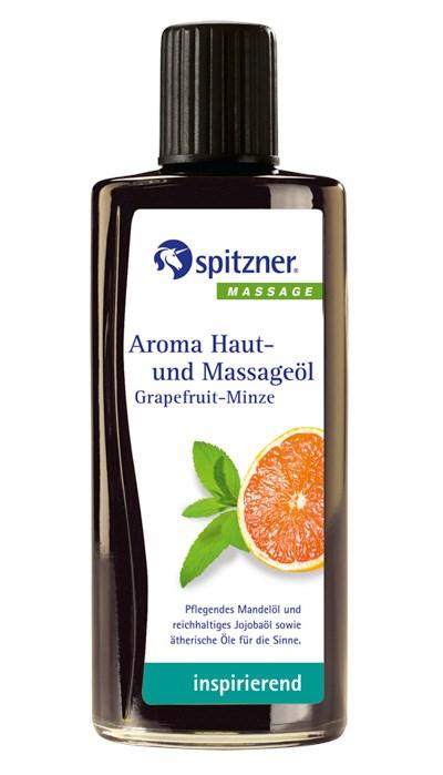 Masážní olej Wellness Grapefruit - Máta, 190 ml