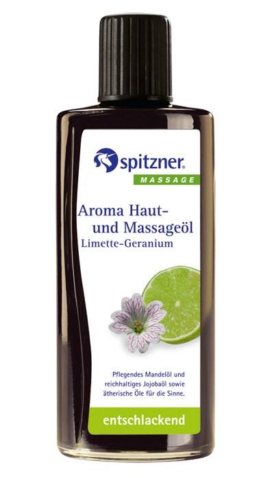 Masážní olej Wellness Limetka - Geránie, 190 ml