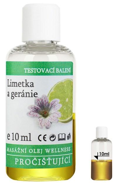 Masážní olej Wellness Limetka - Geránie, 10 ml - testovací balení