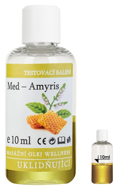 Masážní olej Wellness Med - Amyris, 10 ml - testovací balení