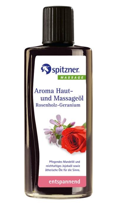 Masážní olej Wellness Růžové dřevo - Geránie, 190 ml