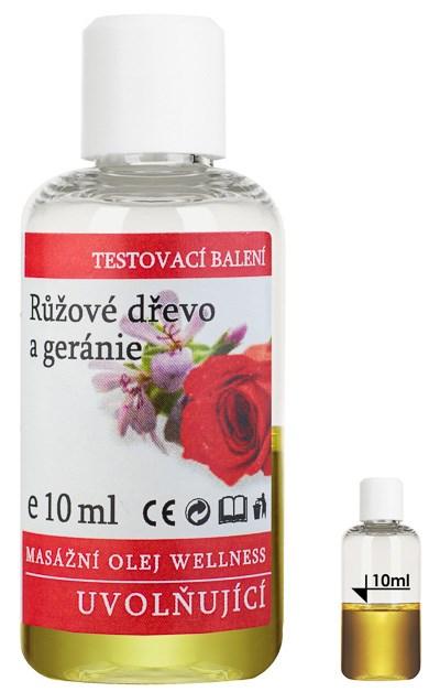 Masážní olej Wellness Růžové dřevo - Geránie, 10 ml - testovací balení