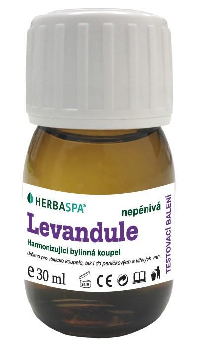 Bylinná koupel nepěnivá Levandule, 30 ml - testovací balení
