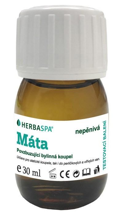 Bylinná koupel nepěnivá Máta, 30 ml - testovací balení