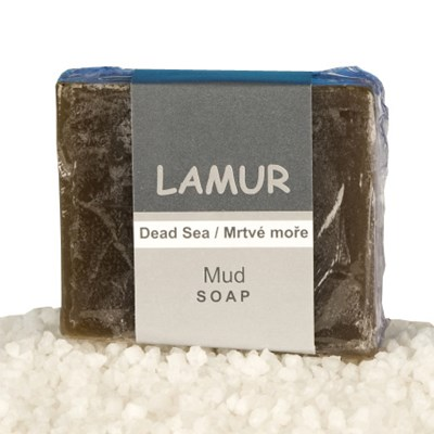 Lamur minerální bahenní mýdlo z Mrtvého moře 100 g
