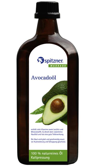 Spitzner Masážní olej panenský avokádový, 500 ml