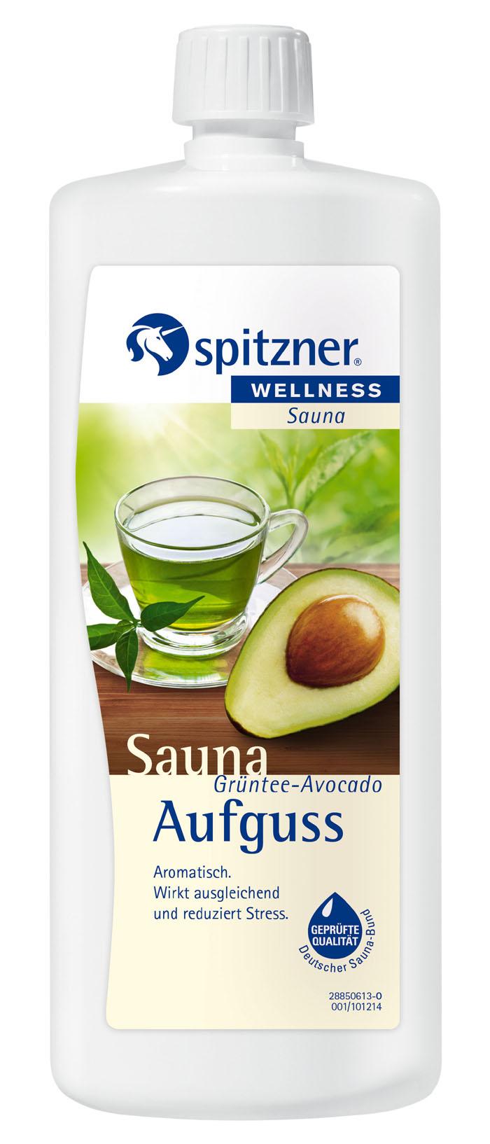 Spitzner Esence do sauny Zelený čaj - Avokádo, 1 l