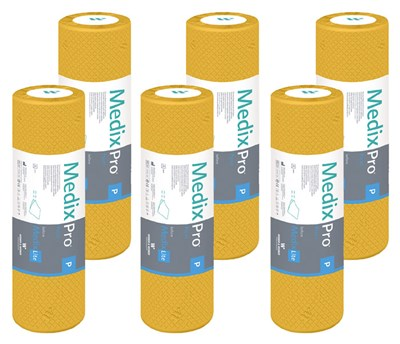 Papírové prostěradlo dvouvrstvé Premium, 50 cm x 50 m, citron, 6 ks