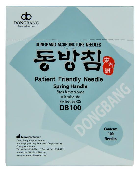 DongBang AcuPrime Jednorázové akupunkturní jehly DONGBANG se zaváděcí trubičkou, 100 ks