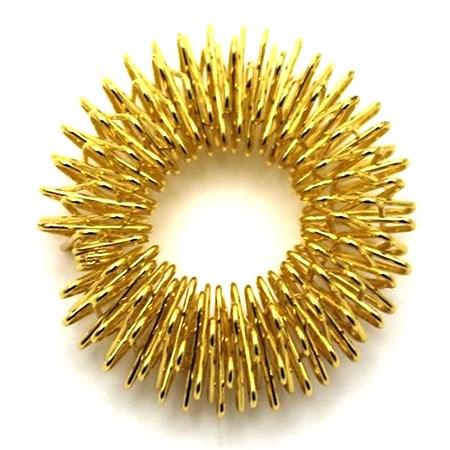 Masážní prstýnek zlatý průměr 27 mm