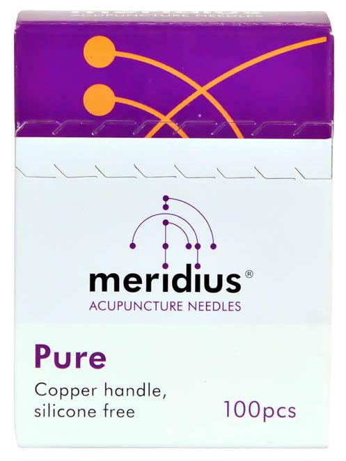 Meridius jednorázové akupunkturní jehly PURE bez zaváděcí trubičky, 100 ks