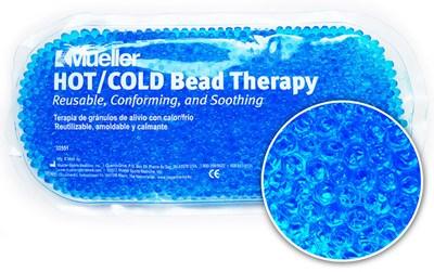 Chladivý/nahřívací polštářek s gelovými kuličkami, modrá