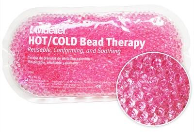 Chladivý/nahřívací polštářek s gelovými kuličkami, růžová