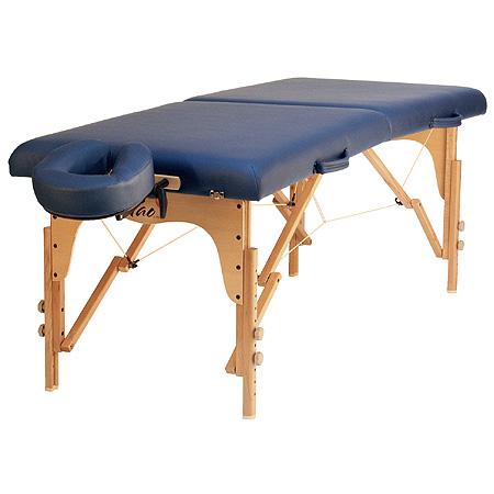 Taoline skládací dřevěné lehátko RELAX, 70 x 185 cm, modrá