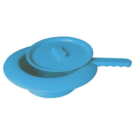 Sundo Podložní mísa plastová s víkem, 31 cm, modrá