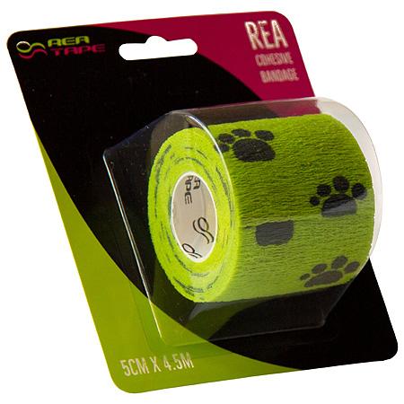 REA TAPE Elastické samofixační obinadlo, 5 cm × 4,5 m, zelená s tlapkou