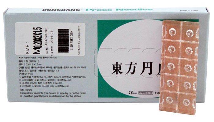 DongBang AcuPrime Jednorázové akupunkturní jehly DONGBANG Press needles - napínáčky, 100 ks