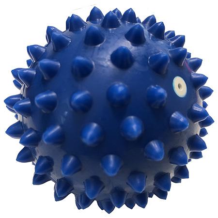MVS Masážní míček, ježek, nafukovací, 80 mm, modrý